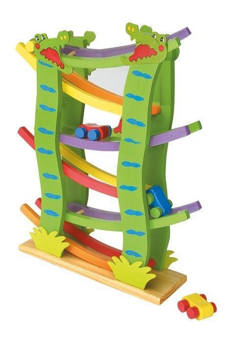Treno/trenino coccodrilli con macchinine in legno gioco per bambini
