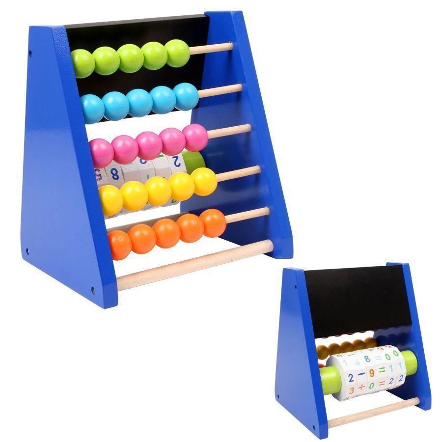 Pallottiere/triangolo da calcolo in legno colorato gioco per bambini
