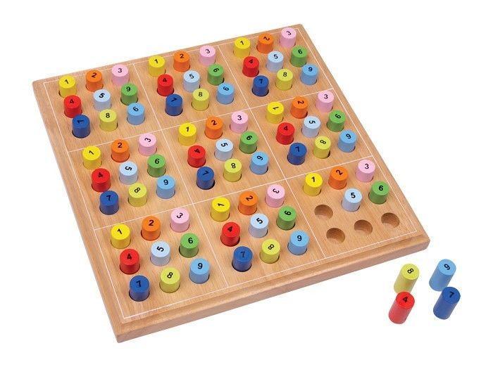 Sudoku in legno colorato gioco classico società di calcolo matematico