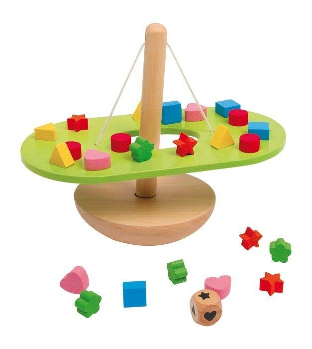 Altalena d'equilibrio gioco x motricità bambini in legno