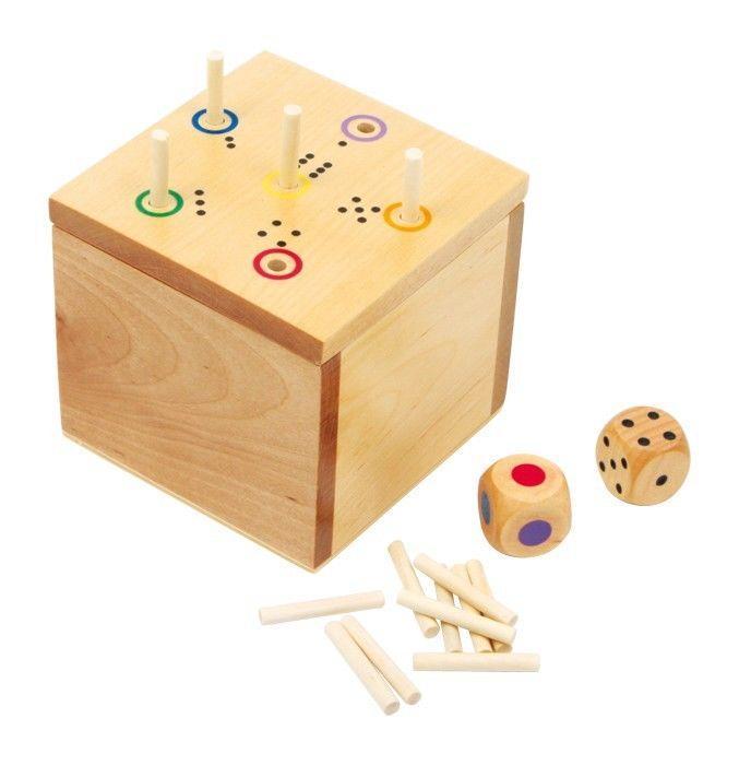 Cubo/dado in legno attività gioco ad incastro bambini