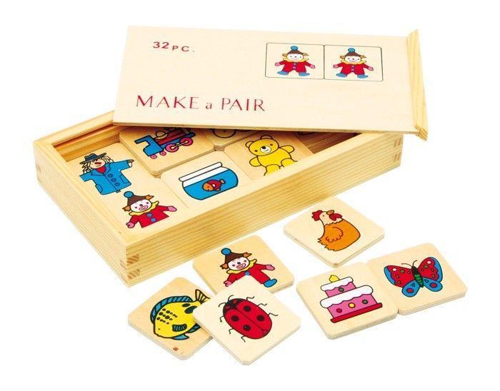 Grande gioco di memoria in legno giocattolo di società x bambini