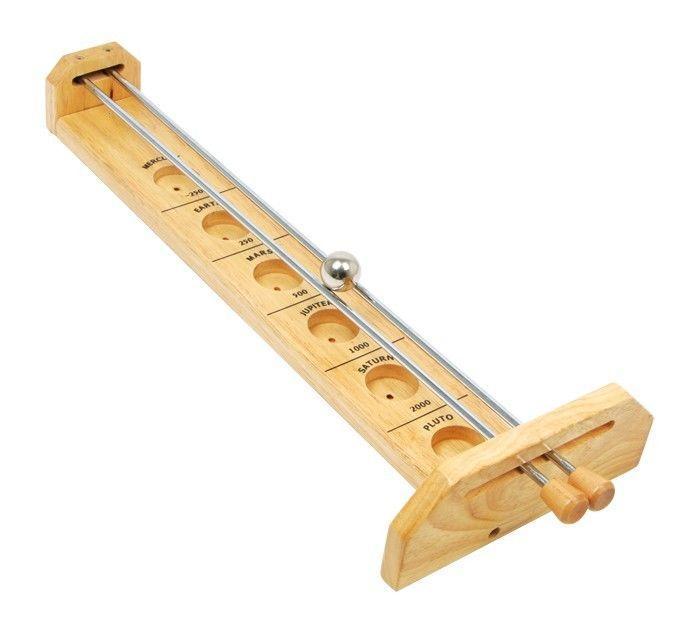 Gioco di equilibrio Pianeti struttura in legno con aste in metallo