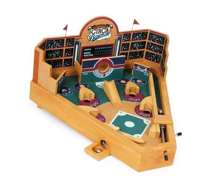 Flipper da tavolo giocattolo in legno Baseball