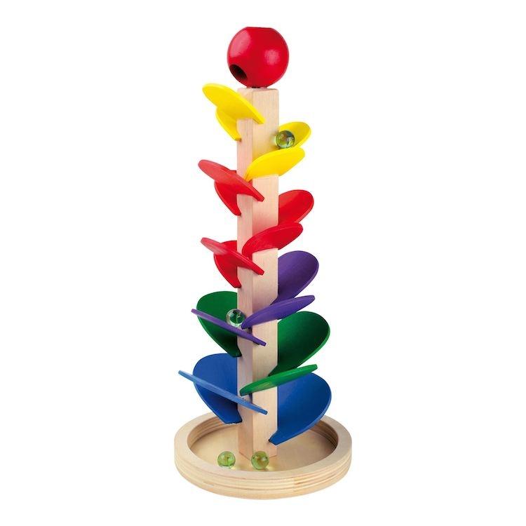 Pista biglie in legno con melodia, gioco giocattolo per bambini