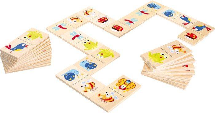 Domino Animaletti in legno gioco bambini