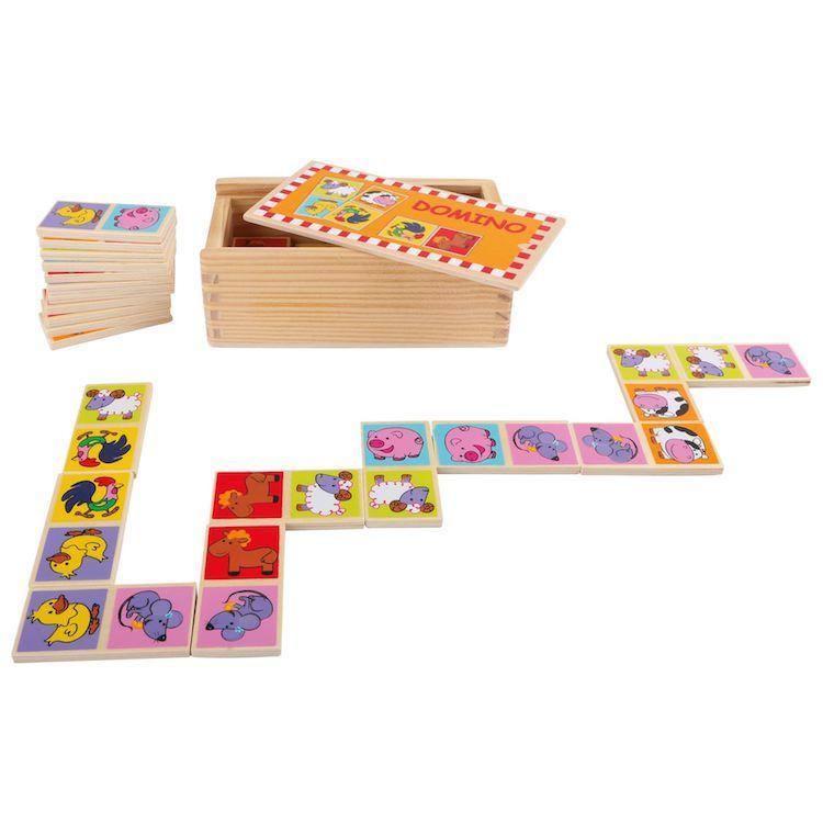 Domino Animali dello zoo gioco in legno per bambini