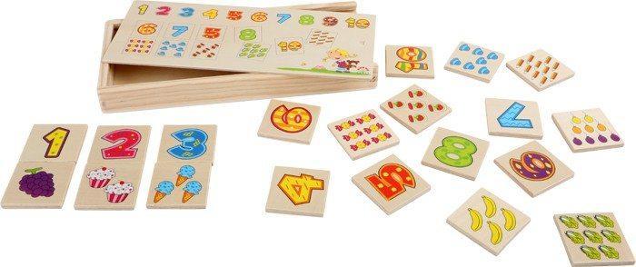 Memo Memori in legno Numeri giocattolo per bambini
