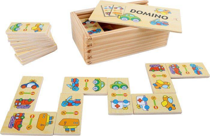 Domino in legno con Auto Vetture gioco motricità per bambini