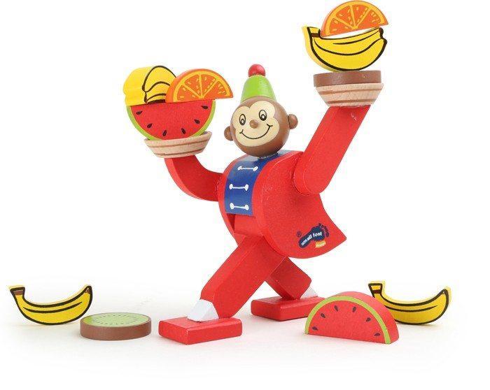 Gioco motricità in legno equilibrio per bambini Scimmia del circo