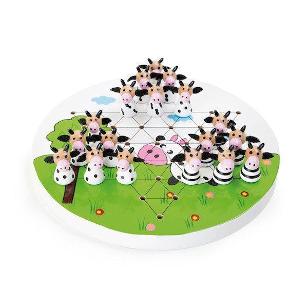 Dama cinese in legno gioco società Mucche Legler 10154