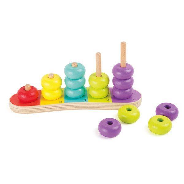 Calcolatrice Dischi colorati in legno per imparare a contare Legler 10165