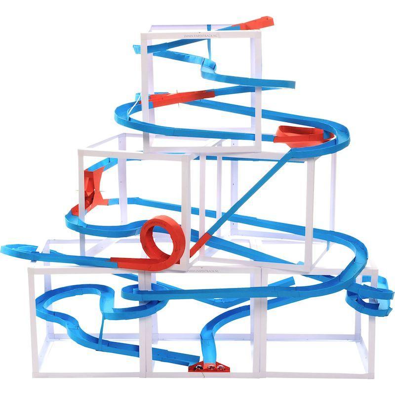 Pista biglie Papertrack, 7 metri gioco per bambini Legler 10306