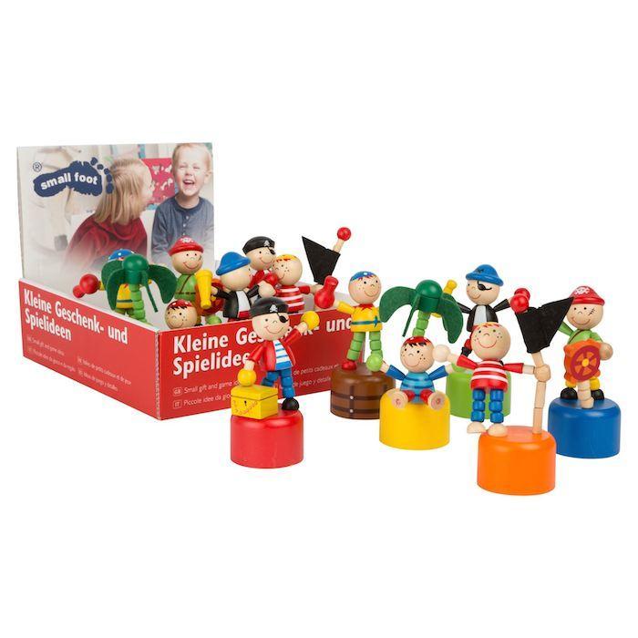 Figure a pressione Pirati in legno. Espositore/display Legler 10467