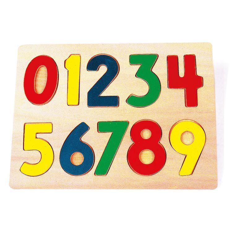 Puzzle ad incastro numeri in legno gioco didattico