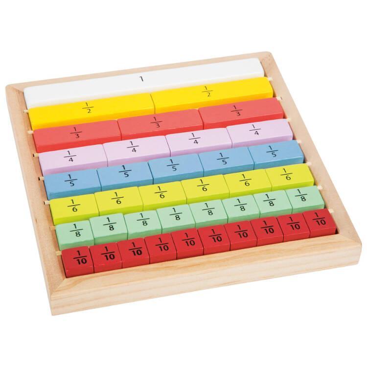 Calcolo delle frazioni Gioco didattico legno Educate