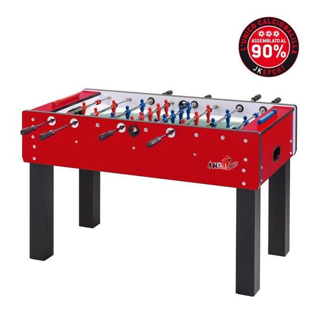 Calcio Balilla Professionale JK Sport JKS400 Aste Rientranti, Colori Blu o Rosso