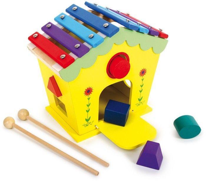 Xilofono casa sonora in legno Strumento Musicale giocattolo bambini