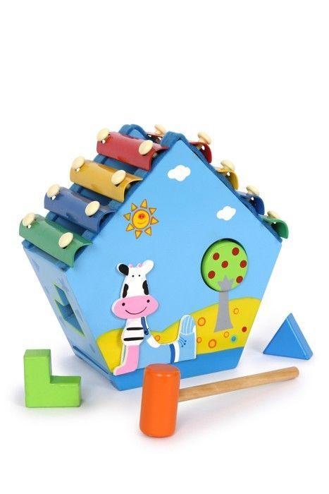 Xilofono casa in legno Strumento Musicale giocattolo bambini