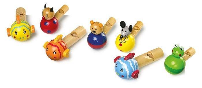 Flauti legno forme animali Strumento Musicale giocattolo bambini 7 pezzi