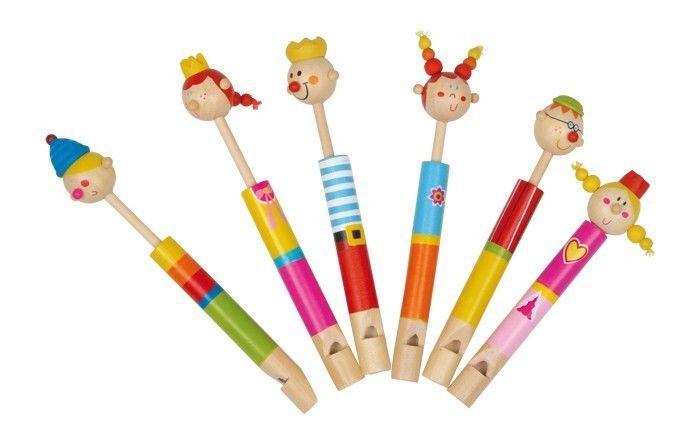 Flauti Famiglia Reale in legno Strumento Musicale giocattolo per bambini 6 pezzi
