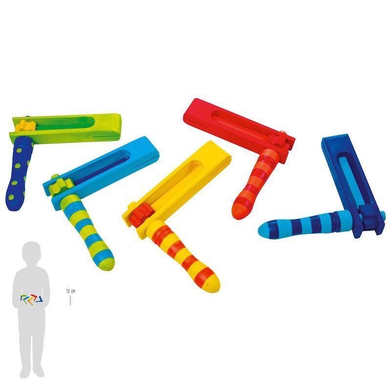 Raganella in legno Strumento Musicale giocattolo 5 pezzi