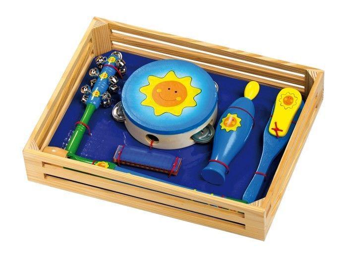 Set 6 Strumento Musicale Raggio di sole in legno giocattolo bambini