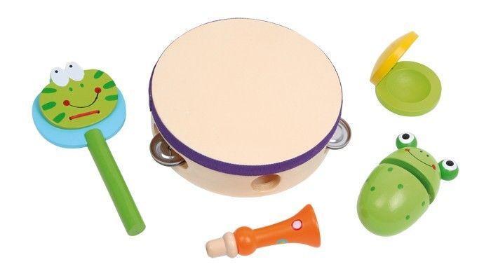 Set da 5 Strumento Musicale in legno giocattolo bambino bambina