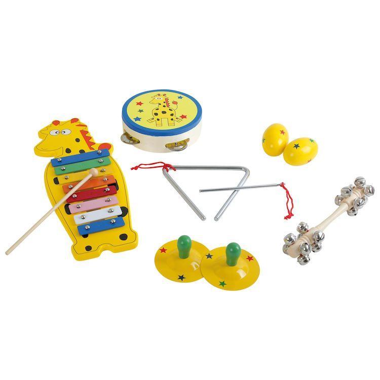 Set 6 pezzi Strumenti Musicali in legno gioco bambini e didattica