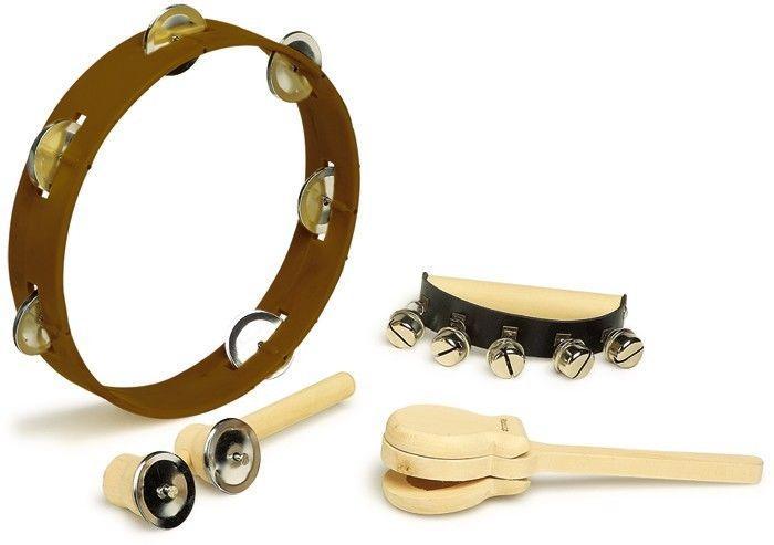 Set Strumento Musicale ritmico 4 pezzi in legno gioco bambini