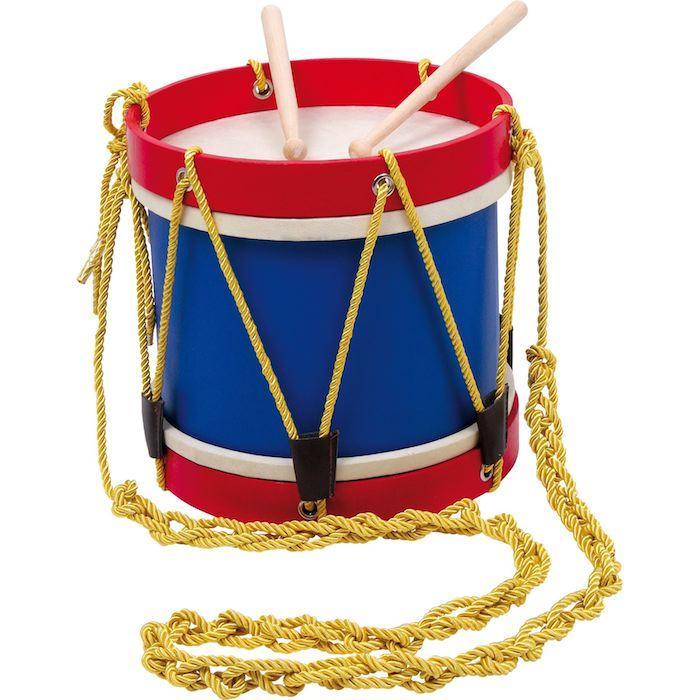 Tamburo in legno da parata banda musicale strumento gioco per bambini