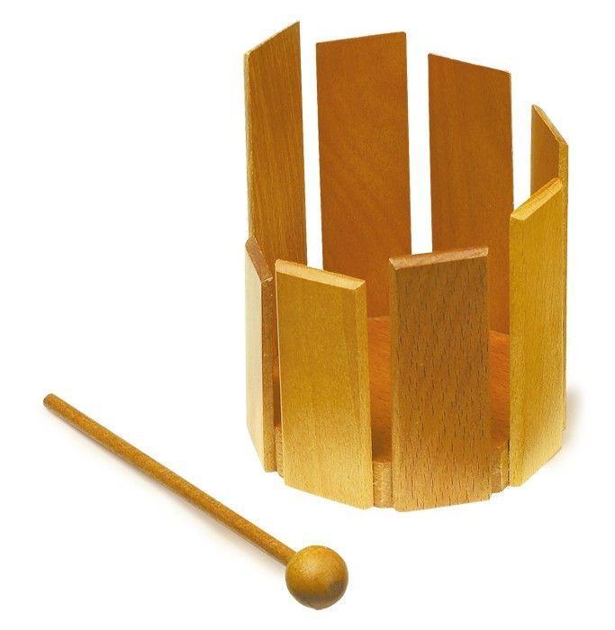 Tamburo Esclusivo in legno strumento musicale gioco bambini