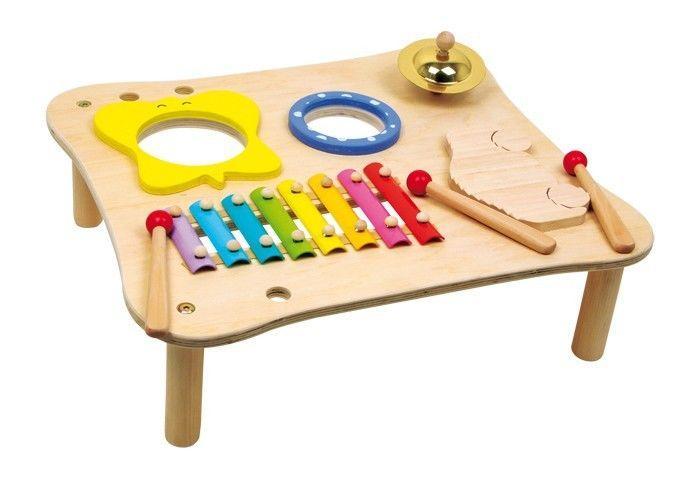 Tavolo x musica con xilofono legno strumento musicale gioco bambini
