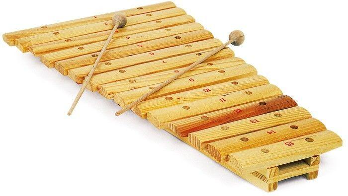 Xilofono per bambini in legno 15 piastre strumento musicale giocattolo