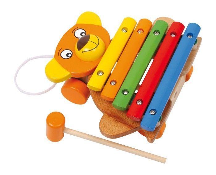 Xilofono a forma Orso strumento musicale legno gioco bambini