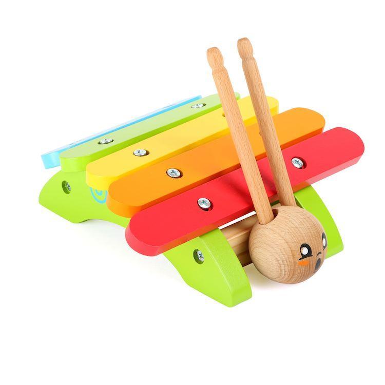 Xilofono lumaca strumento musicale in legno gioco bambini