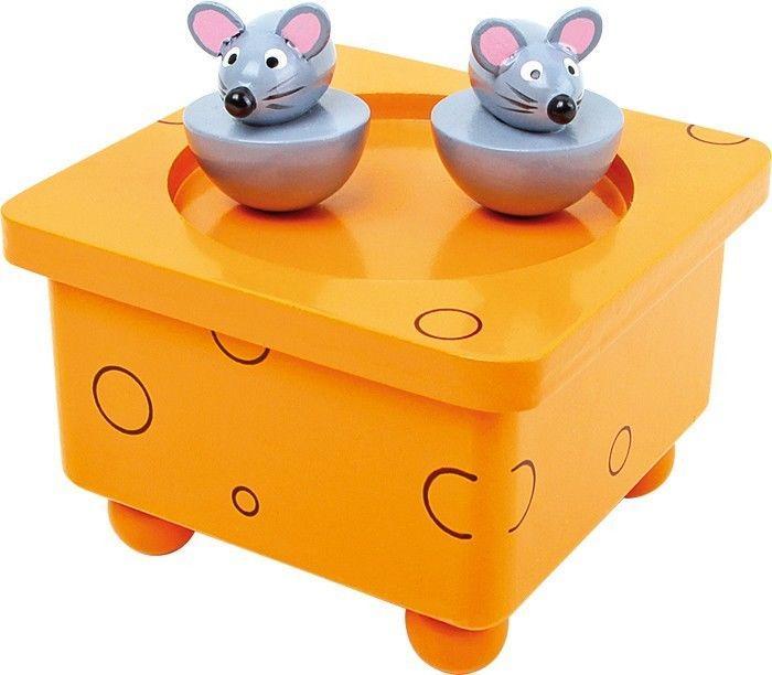 Carillon Topi Ballerini in legno musica e suono giocattolo bambini