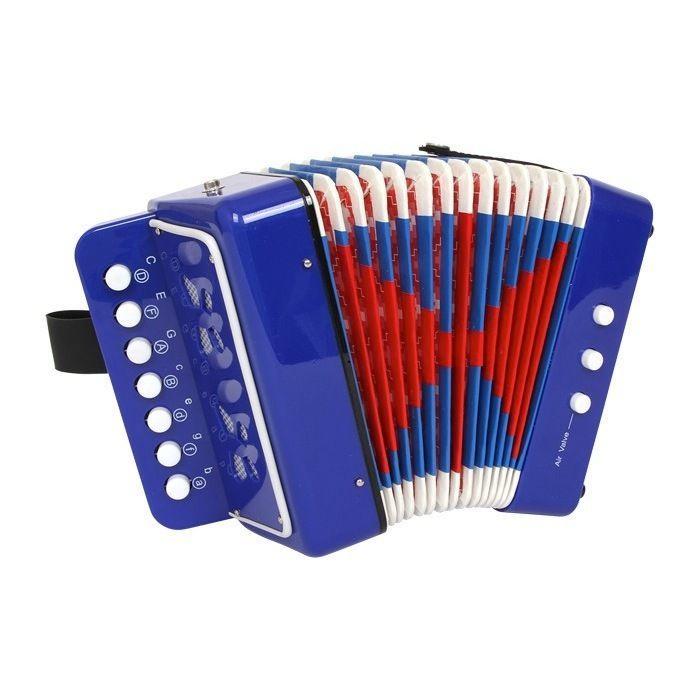 Fisarmonica Blu Strumenti Musicali Giocattolo Bambino Bambina