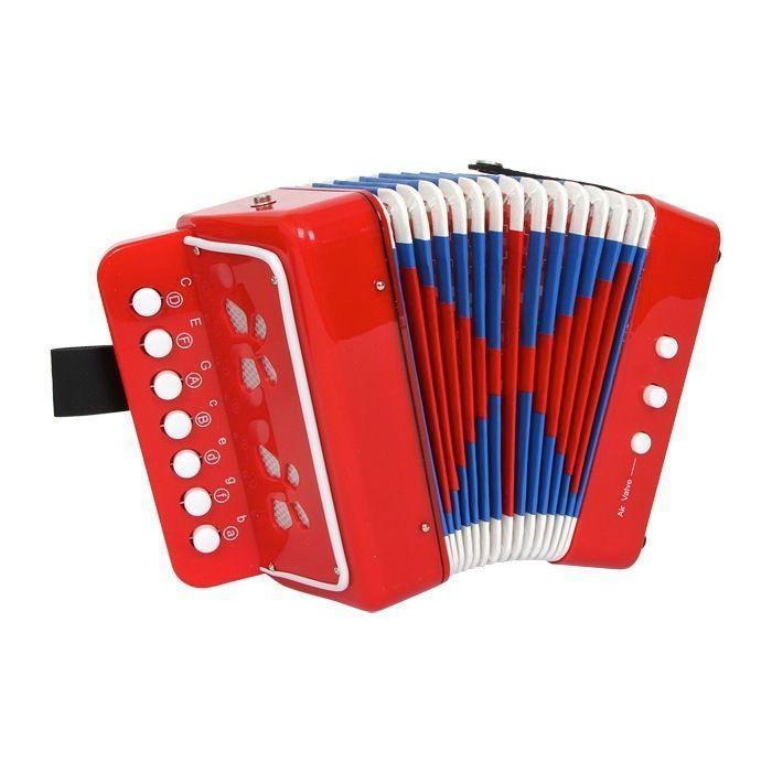 Fisarmonica Rossa Strumento Musicale Giocattolo Bambino Bambina