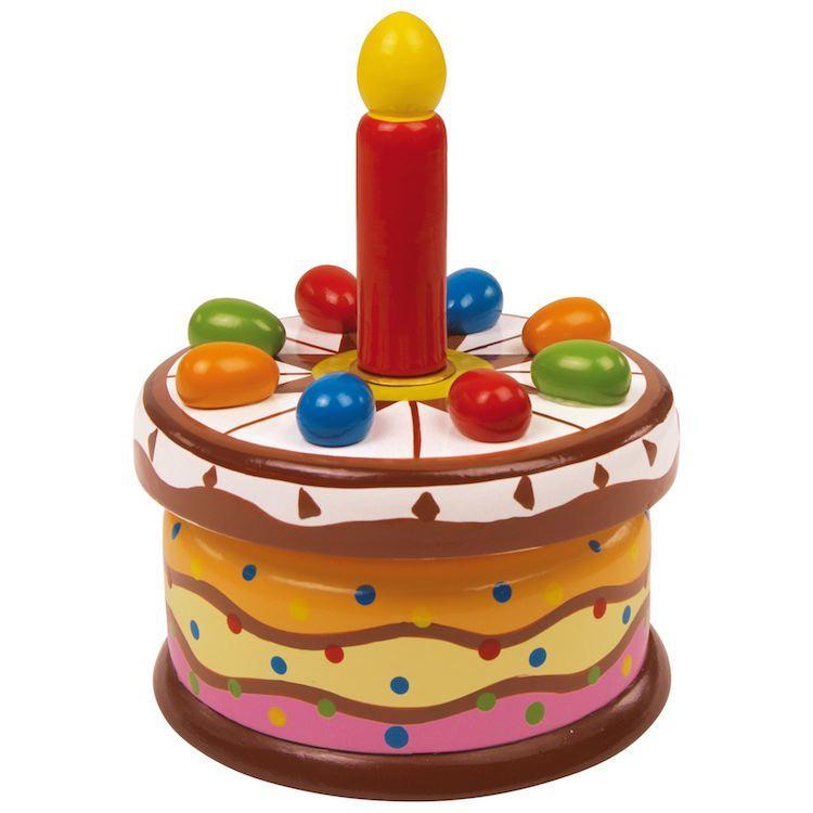 Carillon in legno Torta di compleanno