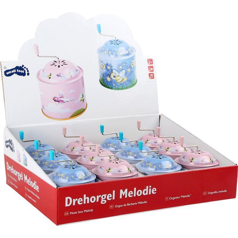 Display espositore organetto giocattolo bambini Melodia Legler 10292