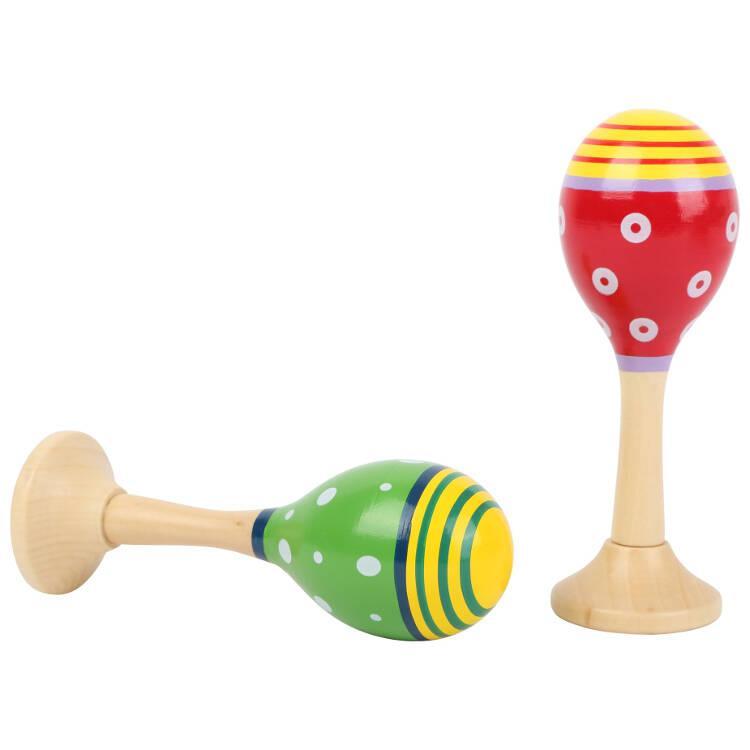 Maracas colorate strumento musicale bambini espositore display