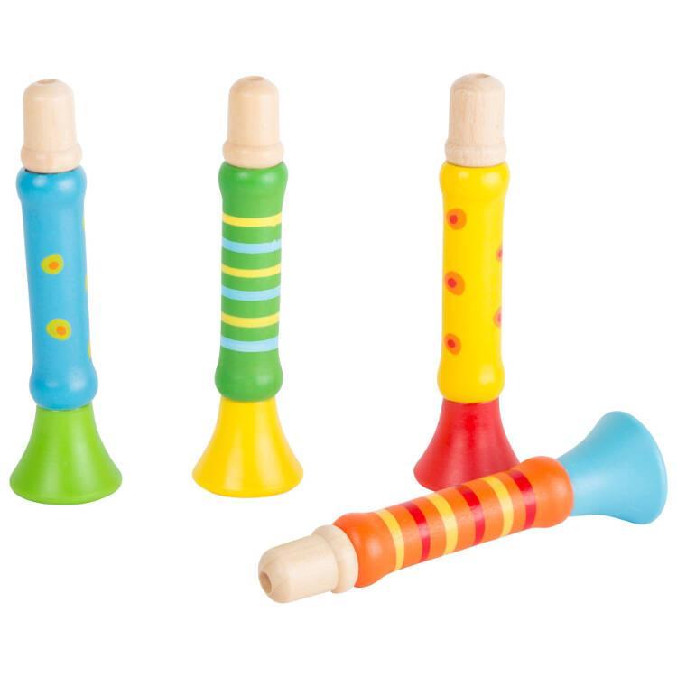 Trombette colorate strumento musicale bambini espositore display