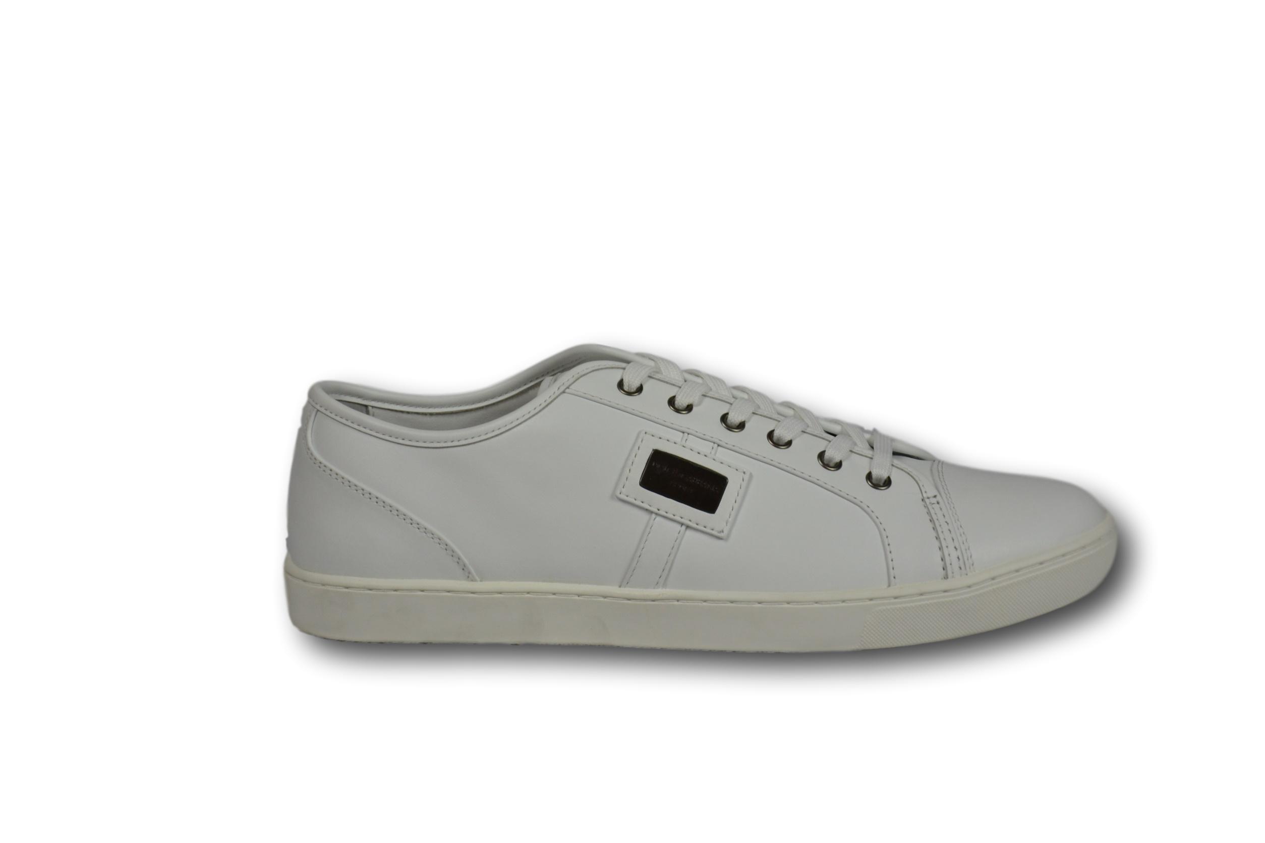 DOLCE   GABBANA D   G Scarpe Sneakers Uomo Pelle Man Bianche White TG. 43 UK  9 24932709b74
