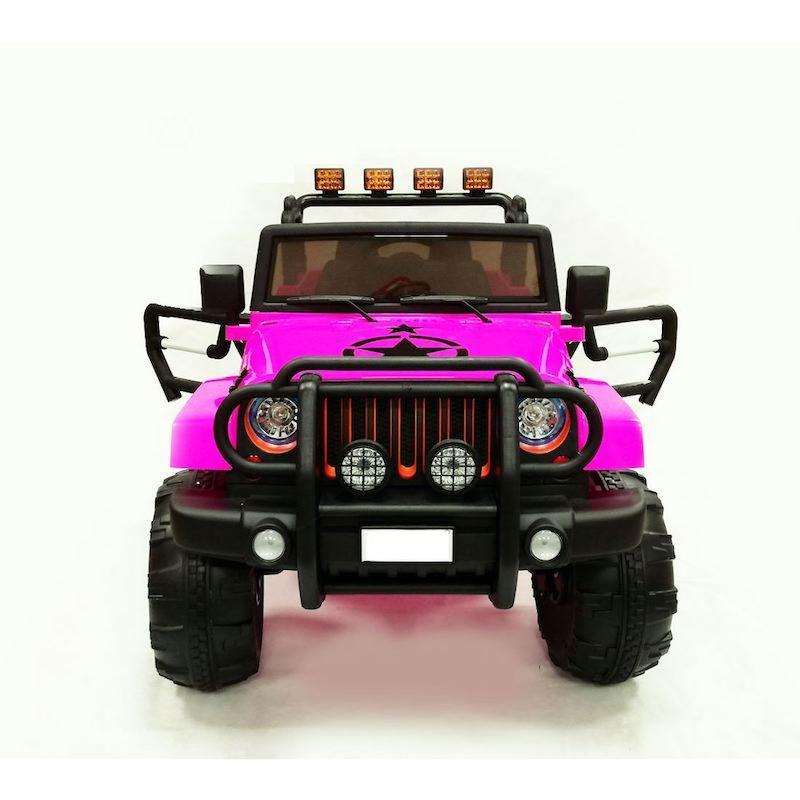 Macchina Auto Elettrica per Bambini JEEP Off Road ROSA