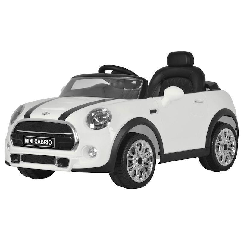 Auto Elettrica per Bambini MINI COOPER CABRIO 12V BIANCA