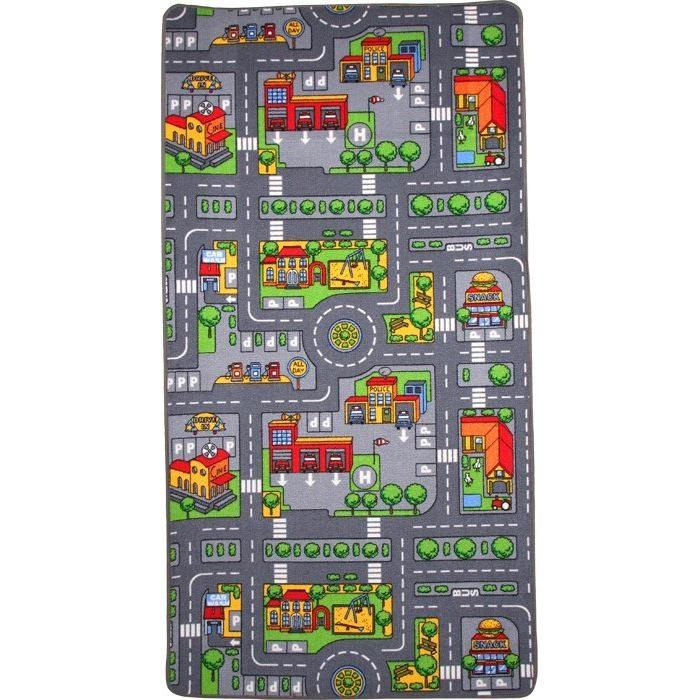 tappeto creativo da gioco colorato città e campagna arredo cameretta