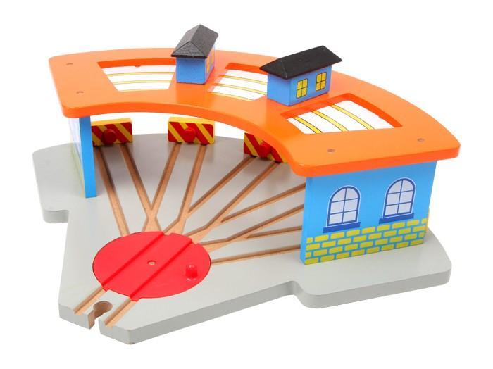 Garage-stazione ferroviaria treni in legno