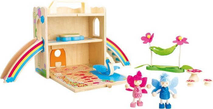 Casa delle fate da viaggio in legno giocattolo per bambine