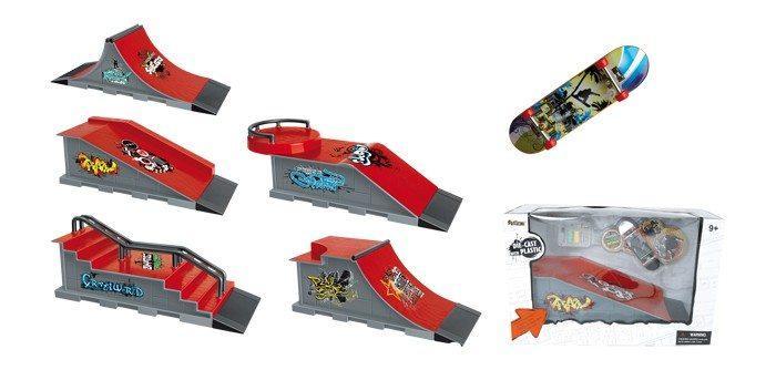 Skateboard mini per le dita con pista Set da 5 gioco bambini